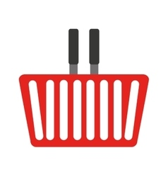 Basket shopping isolated icon vector