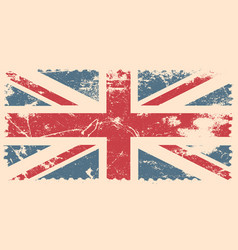 England flag with grunge effect vector
