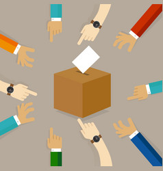 Voting or polling election people cast their vote vector