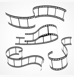 Set of 3d film strips vector