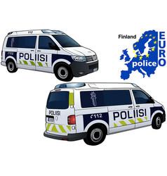 Finland police car vector