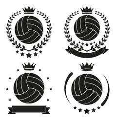 Set of vintage volleyball club badge and label vector
