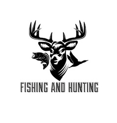 Fishing and hunting vector