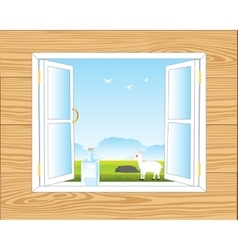 Window in room vector