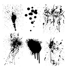 ink splatter marks vector image