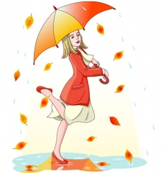 Dancing in the rain vector