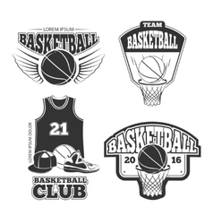 Vintage basketball vintage emblems labels vector