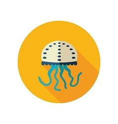 Jellyfish flat icon summer vacation vector