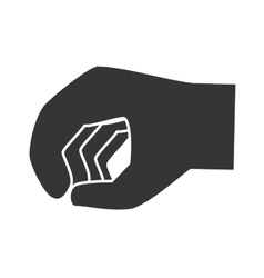 Hand clenched sign icon vector