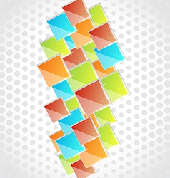 Abstract creative background with colorful square vector