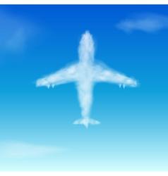 Airplane cloud vector