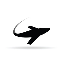airplane symbol for ticket vector image