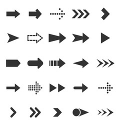 Arrow icons on white background vector image