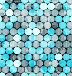 blue circles grunge seamless vector image vector image