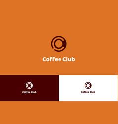 Coffee club logo vector