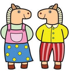 Couple horse vector