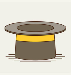 Cylinder gentleman hat vector