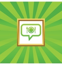 Dinner message picture icon vector image
