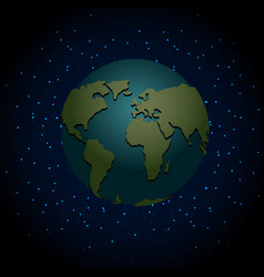 earth night nighttime planet in space lot of vector image vector image