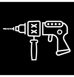 electric drill sign vector image vector image