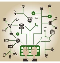 Electronics a network vector