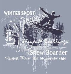 Extreme snow boarder vector