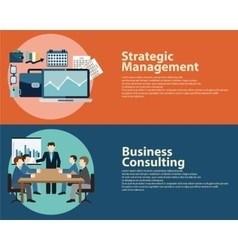 Flat style business success strategy management vector image