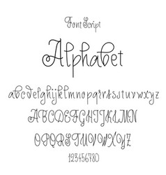 font drawn on the basis of handwriting calligraphy vector image vector image