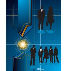 futuristic business background vector image