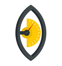 Hand power meter icon isolated vector