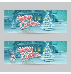 Horizontal banner - cartoon vector image