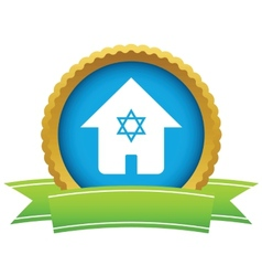House with David star icon vector image