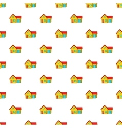 House with garage pattern cartoon style vector