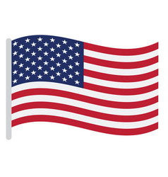 Isolated american flag vector