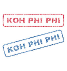 Koh phi phi textile stamps vector