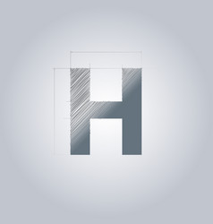Letter h logo alphabet logotype architectural vector