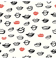 lips seamless handdrawn vector image vector image