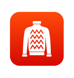 men sweater icon digital red vector image vector image