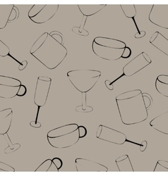 Pattern with crockery vector