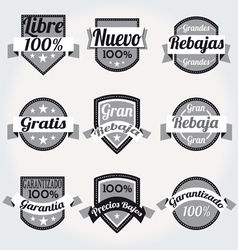 Retro sales free labels vector