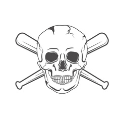 retro skull label vector image