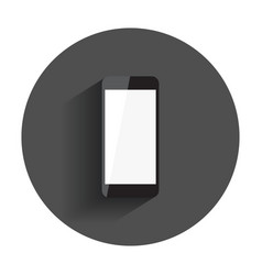 Smartphone with white screen flat icon computer vector