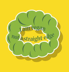 vegetarian logo template design food logo sticker vector image