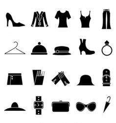 woman fashion and clothes icon vector image