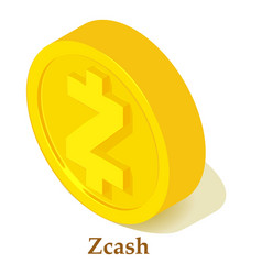 Zcash icon isometric style vector