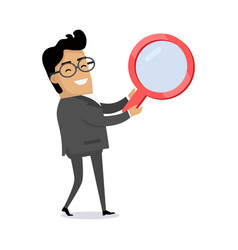Searching concept flat vector