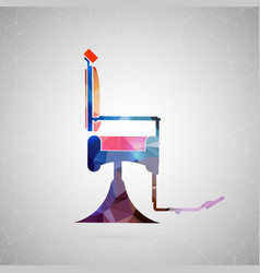 Abstract creative concept icon of barber vector