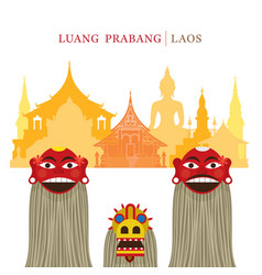 Pou yer ya yer guardian spirits of luang prabang vector