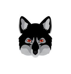 Werewolf head emblem vector