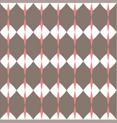 Tile brown and white pattern or website background vector